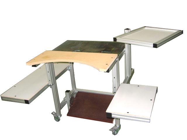 mesas de trabajo ergon micas aipal aluminio estructuras